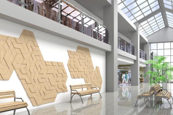 romby w galerii handlowej